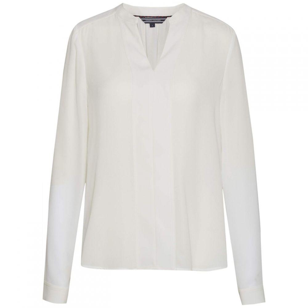 トミー ヒルフィガー Tommy Hilfiger レディース ブラウス・シャツ トップス【jandi long sleeve blouse】White