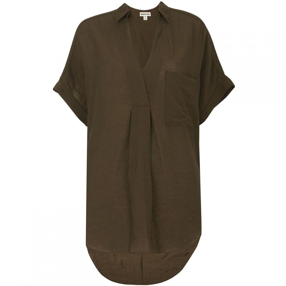 ホイッスルズ Whistles レディース ブラウス・シャツ トップス【lea shirt】Khaki