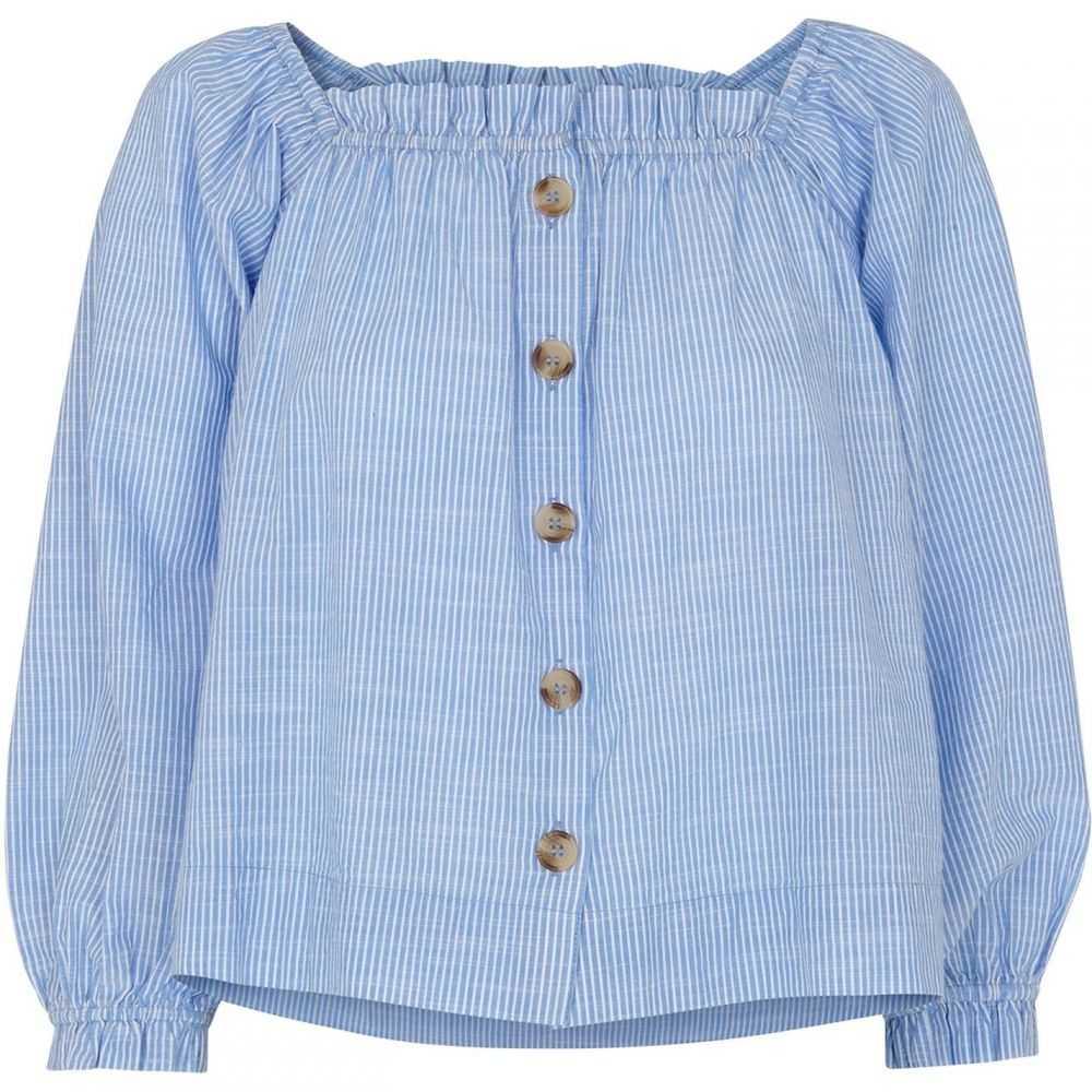 ホイッスルズ Whistles レディース ブラウス・シャツ トップス【kiara square neck blouse】Blue Multi