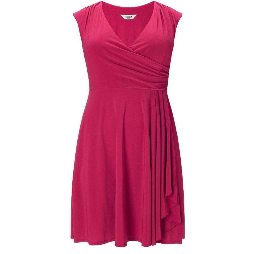 スタジオ8 Studio 8 レディース ワンピース・ドレス ワンピース【Plus Size Pearl wrap dress】Red