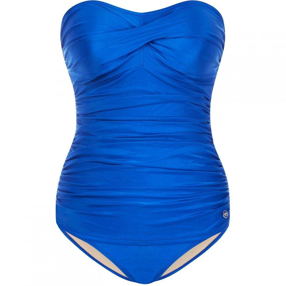 シースプレー Seaspray レディース 水着・ビーチウェア ワンピース【Sapphire Draped Bandeau】Blue
