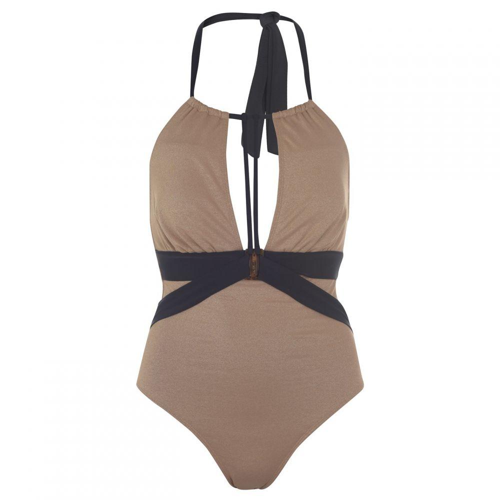 ビバ Biba レディース ワンピース 水着・ビーチウェア【naomi metallised swimsuit】Gold