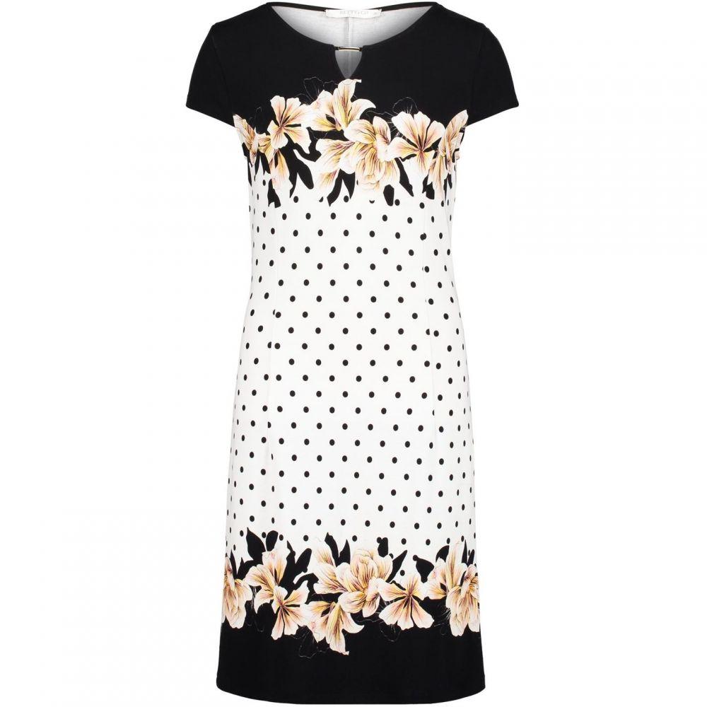 ベティー バークレイ Betty Barclay レディース ワンピース ワンピース・ドレス【floral print jersey dress】Black & White