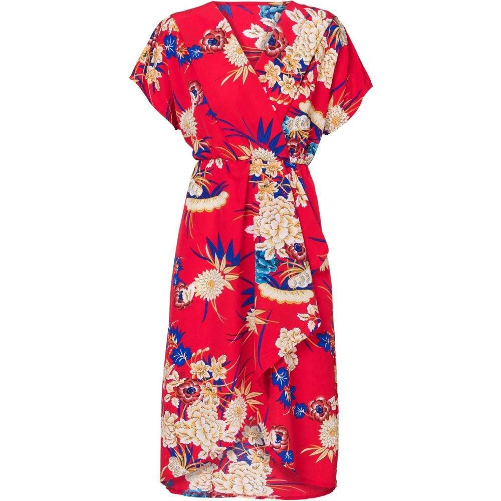 キャロライナ カブール Carolina Cavour レディース ワンピース・ドレス ワンピース【Flower Print V Neck Dress】Red