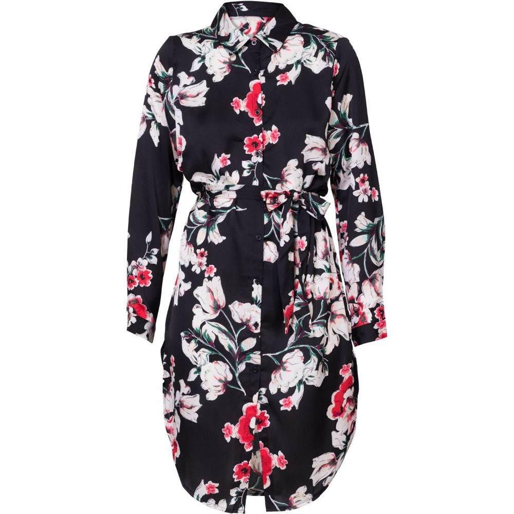 キャロライナ カブール Carolina Cavour レディース ワンピース・ドレス ワンピース【Flower Print Shirt Dress】Black