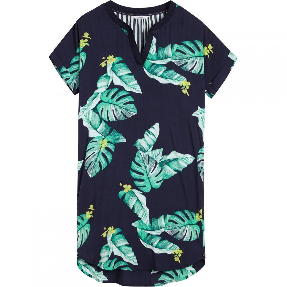 サンドイッチ Sandwich レディース ワンピース・ドレス ワンピース【Tropical Leaves Print Dress】Navy