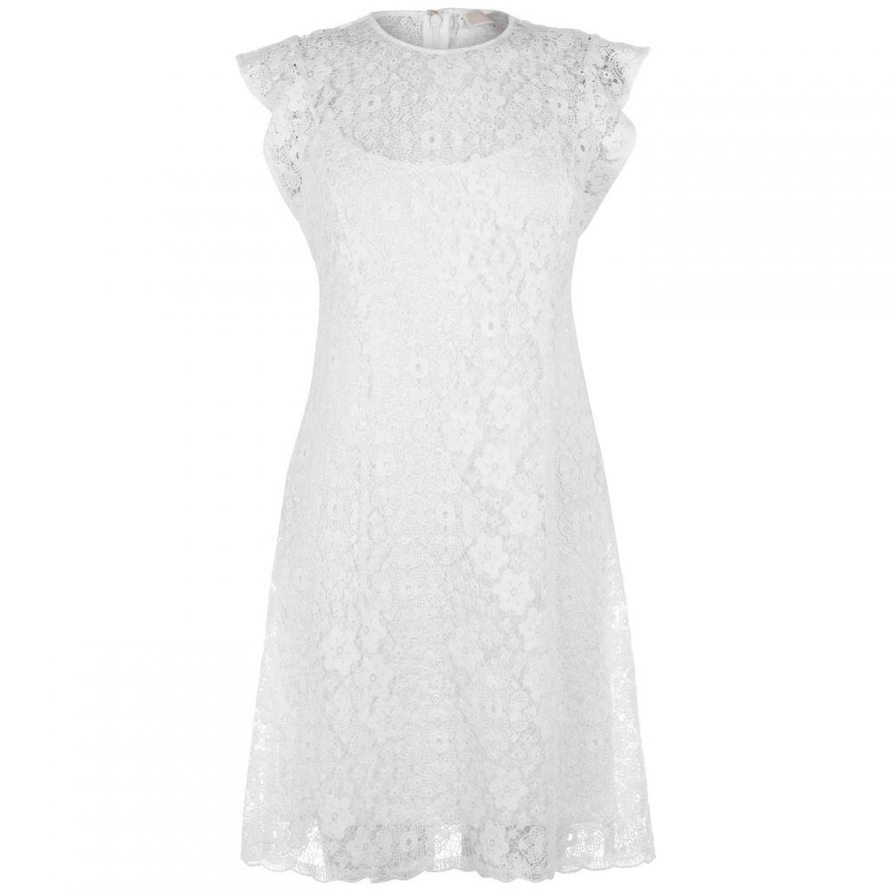 マイケル コース Michael Kors レディース ワンピース・ドレス ワンピース【Ornate Crochet Dress】White