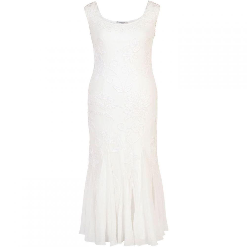 チェスカ Chesca レディース ワンピース・ドレス ワンピース【Embroidered and Beaded Bridal Dress】Ivory
