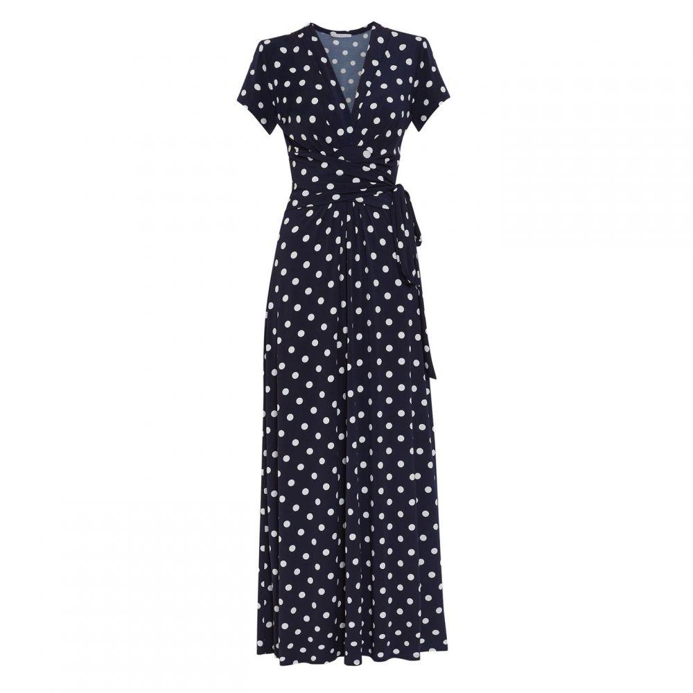 ジーナ バッコーニ Gina Bacconi レディース ワンピース・ドレス ワンピース【Luciana Spot Maxi Dress】Navy