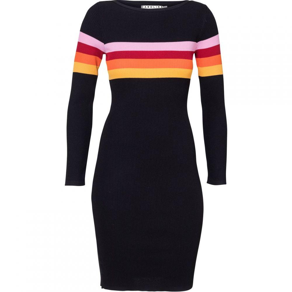 キャロライナ カブール Carolina Cavour レディース ワンピース・ドレス ワンピース【Knitted Striped Dress】Black