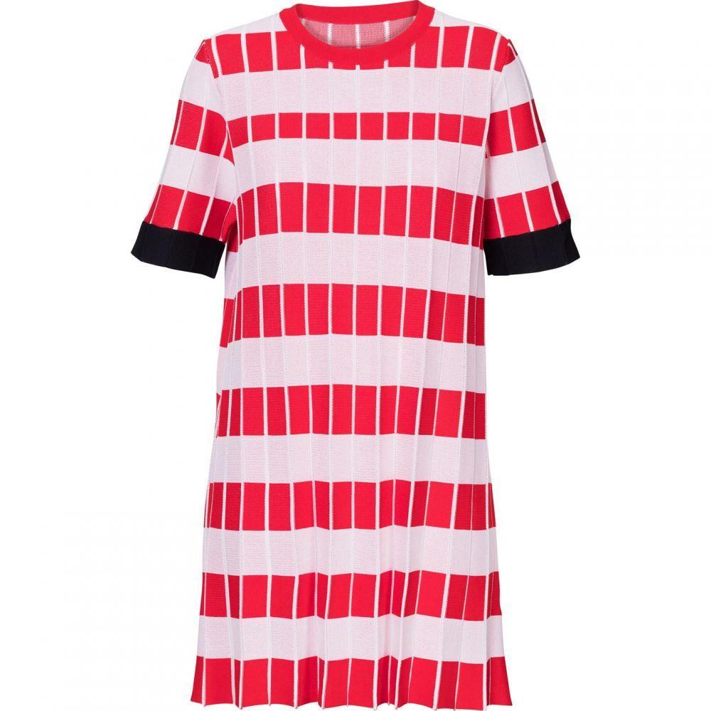 キャロライナ カブール Carolina Cavour レディース ワンピース・ドレス ワンピース【Knitted Striped Crinkle Dress】Red