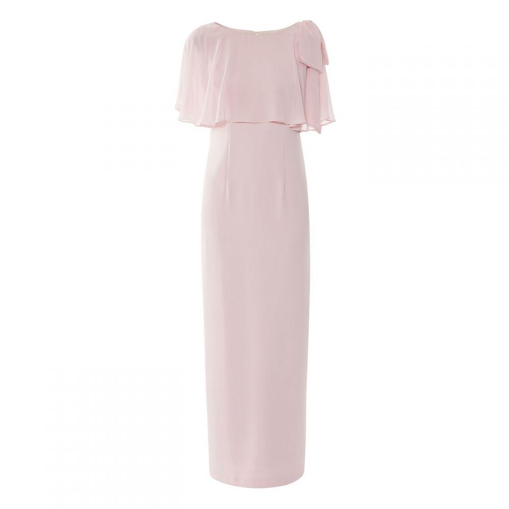 ジーナ バッコーニ Gina Bacconi レディース ワンピース・ドレス ワンピース【Joni Moss Crepe Maxi Dress】Pink