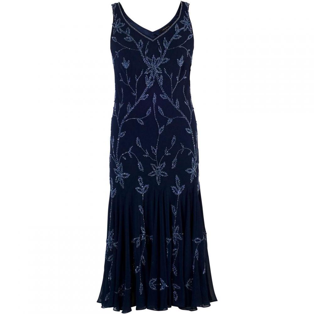 チェスカ Chesca レディース ワンピース・ドレス ワンピース【Allover Beaded Dress】Navy