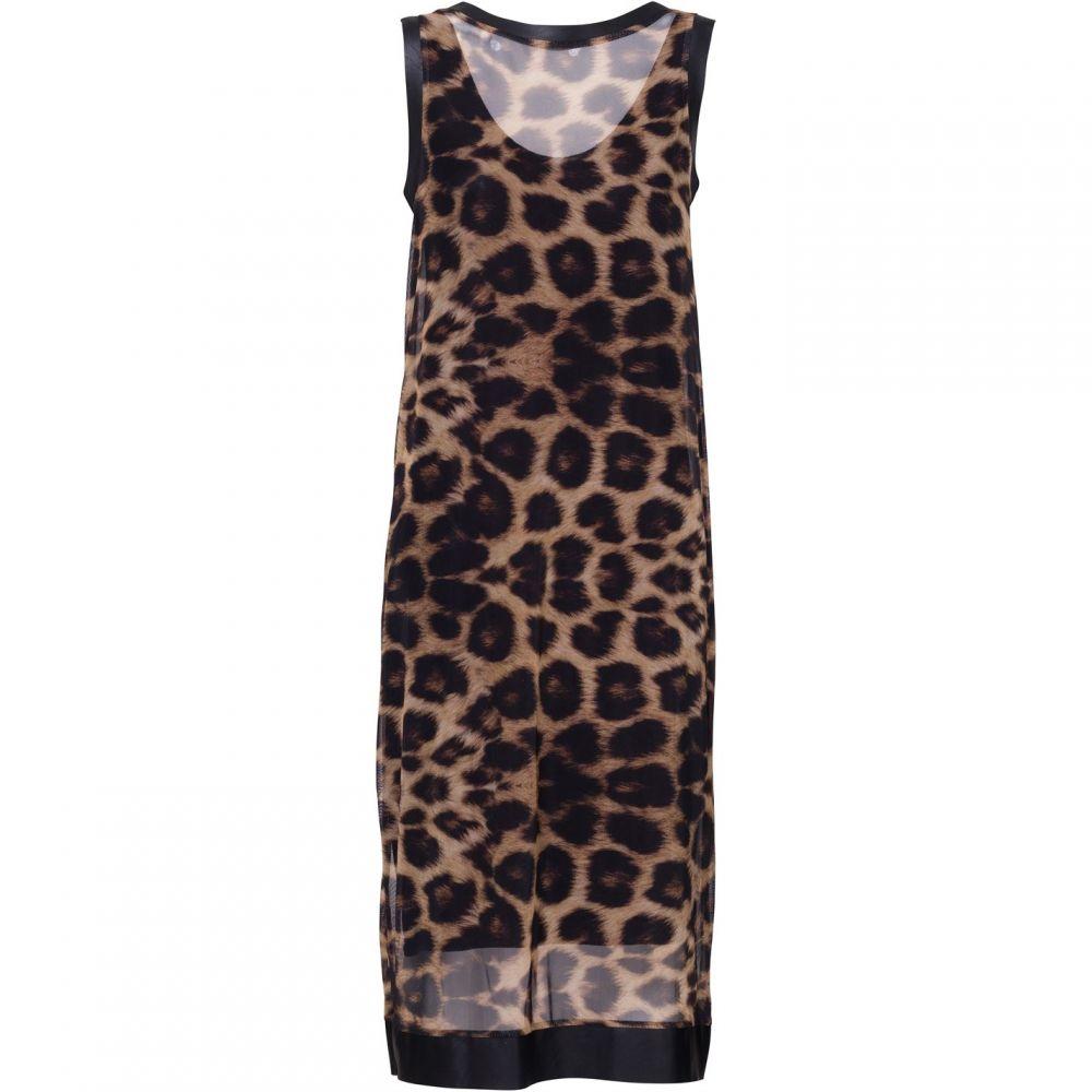 キャロライナ カブール Carolina Cavour レディース ワンピース・ドレス ワンピース【Leopard Midi Print Dress】Brown