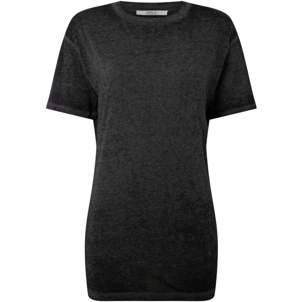 リプレイ Replay レディース Tシャツ トップス【t shirt corset detailing】Black
