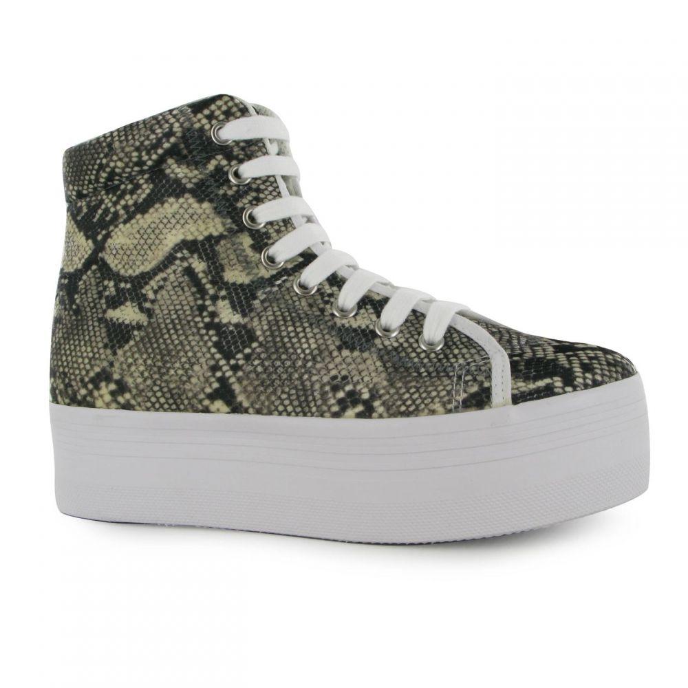 ジェフリー キャンベル Jeffrey Campbell レディース シューズ・靴【Play Homg Snake Platform Shoes】Grey/Beige