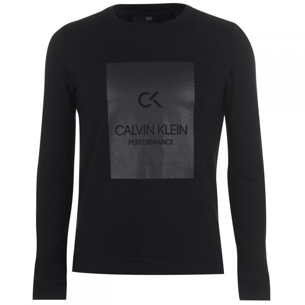 カルバンクライン Calvin Klein Performance レディース ニット・セーター トップス【calvin logo sweater】CK BLACK