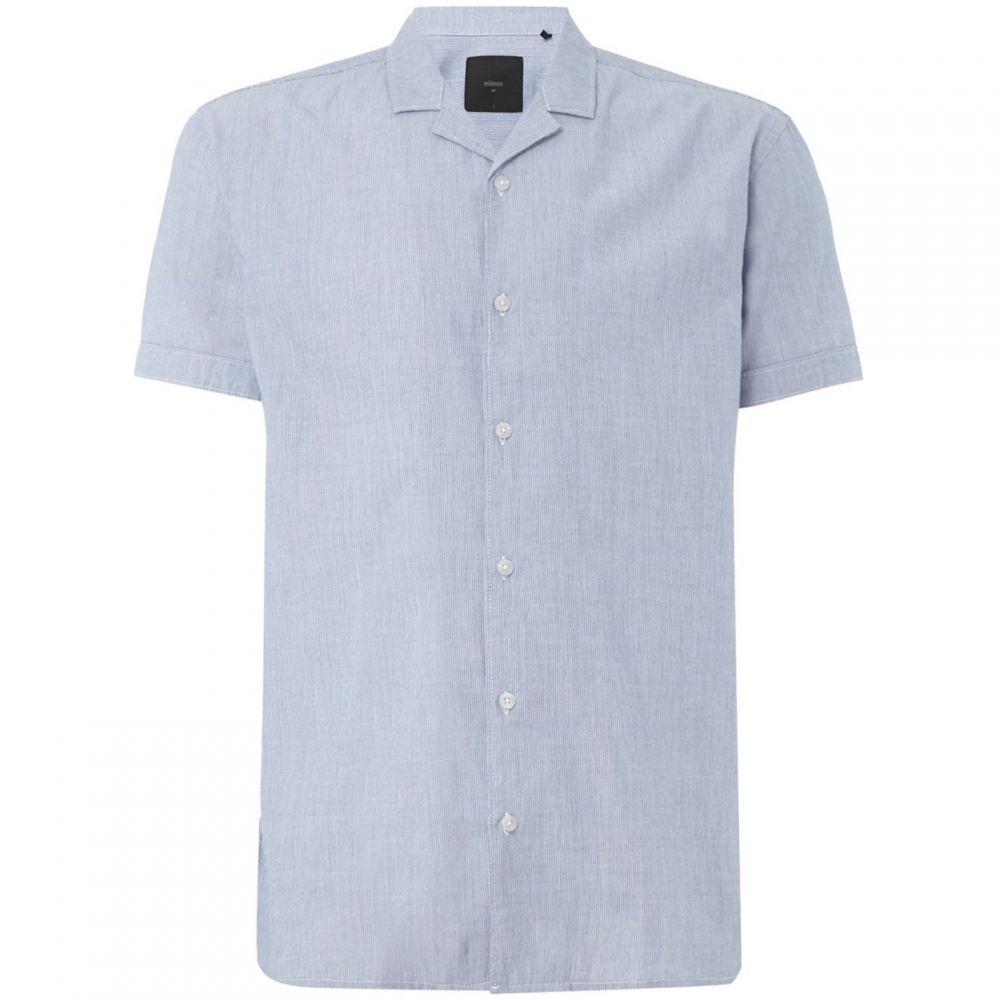 ミニマム Minimum メンズ 半袖シャツ トップス【casual cool short sleeve shirt】Navy