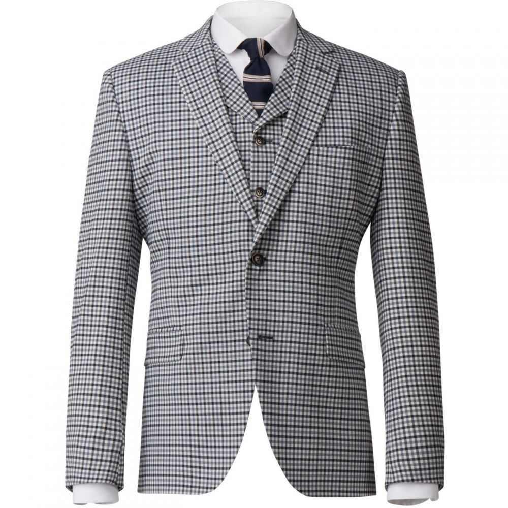 ギブソン Gibson メンズ アウター スーツ・ジャケット【Gingham Check Jacket】Blue