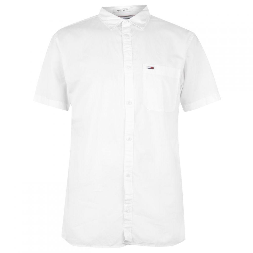 トミー ジーンズ Tommy Jeans メンズ 半袖シャツ トップス【ss solid shirt sn00】White