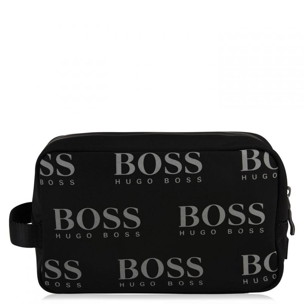 ヒューゴ ボス BOSS メンズ ポーチ【Iconic Logo Washbag】Black