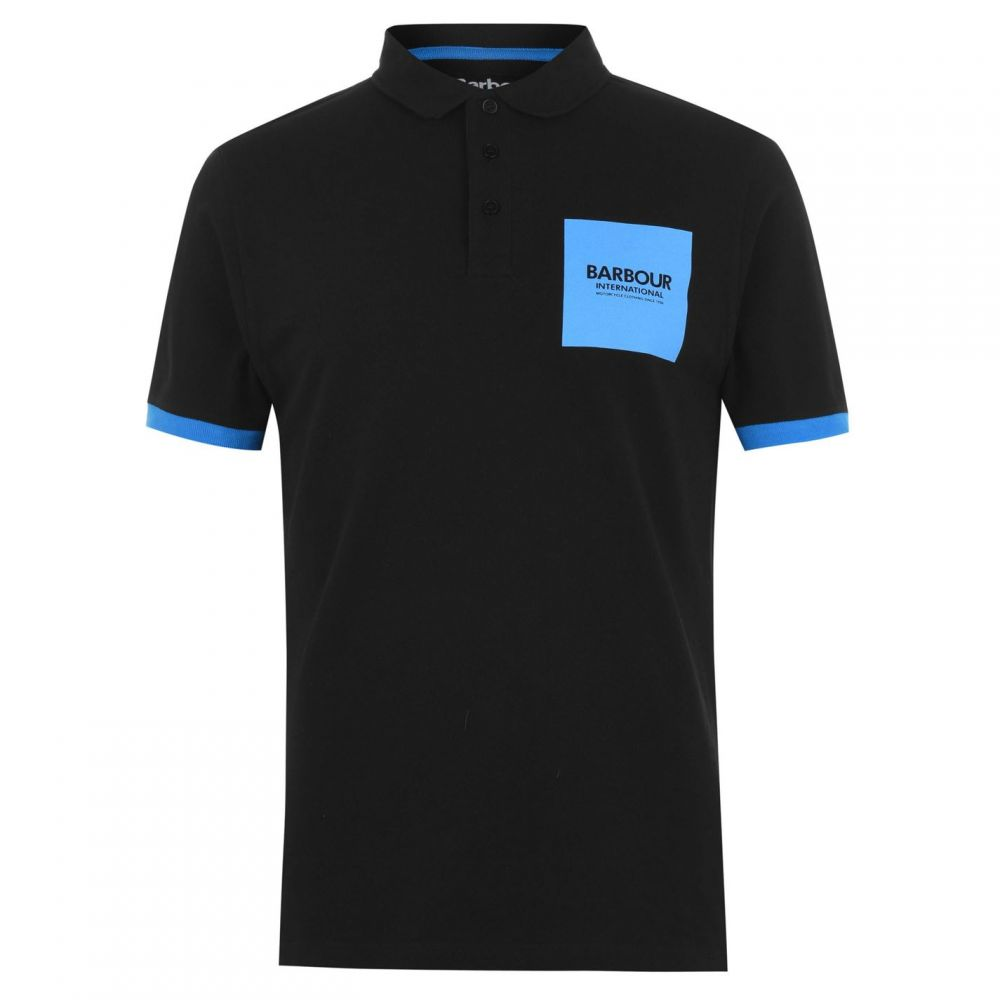 バーブァー Barbour International メンズ トップス ポロシャツ【B.Int Scortch Polo Sn94】Black