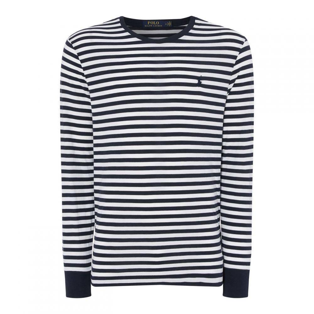 ラルフ ローレン Polo Ralph Lauren メンズ トップス ポロシャツ【Polo LS Striped Sn92】White/Navy