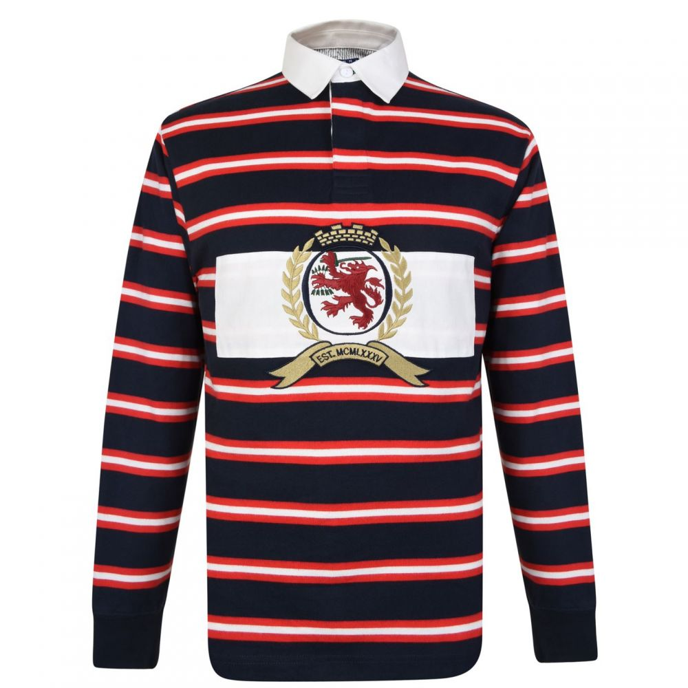 トミー ジーンズ Tommy Jeans メンズ トップス ポロシャツ【Striped Rugby Shirt】Dark Sapp/Multi