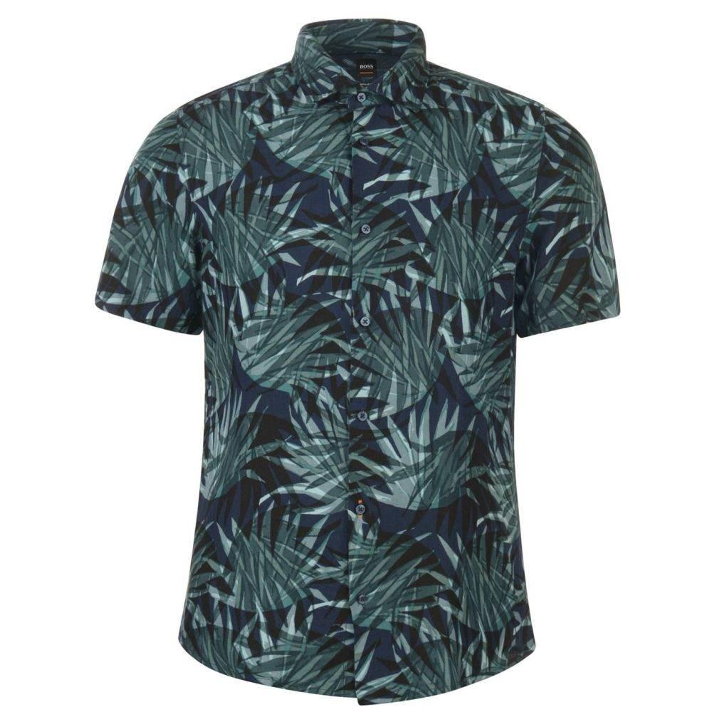 ヒューゴ ボス Boss メンズ 半袖シャツ トップス【rash garden shirt】Multi