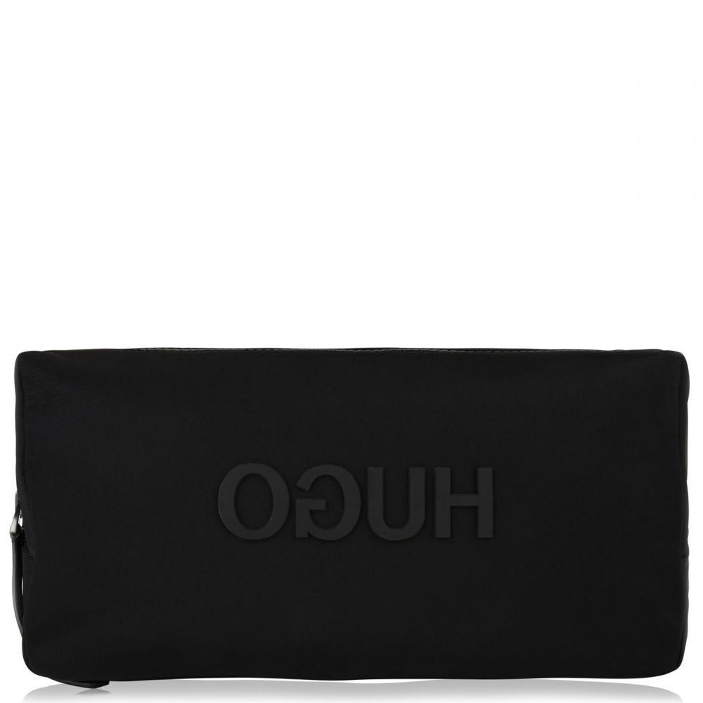 ヒューゴ ボス HUGO メンズ ポーチ【Reverse Logo Wash Bag】Black