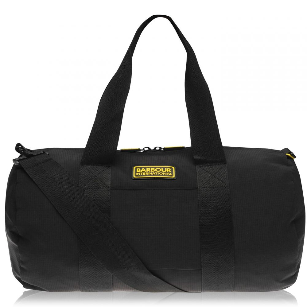 バーブァー Barbour International メンズ バッグ【Barrel Bag】Black BK