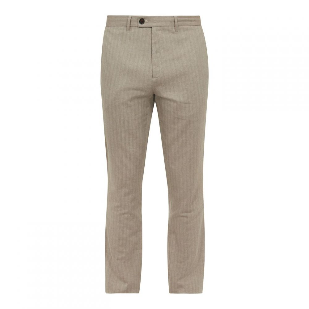 テッドベーカー Ted Baker メンズ ボトムス・パンツ 【balrtro linen blend herringbone trousers】Natural