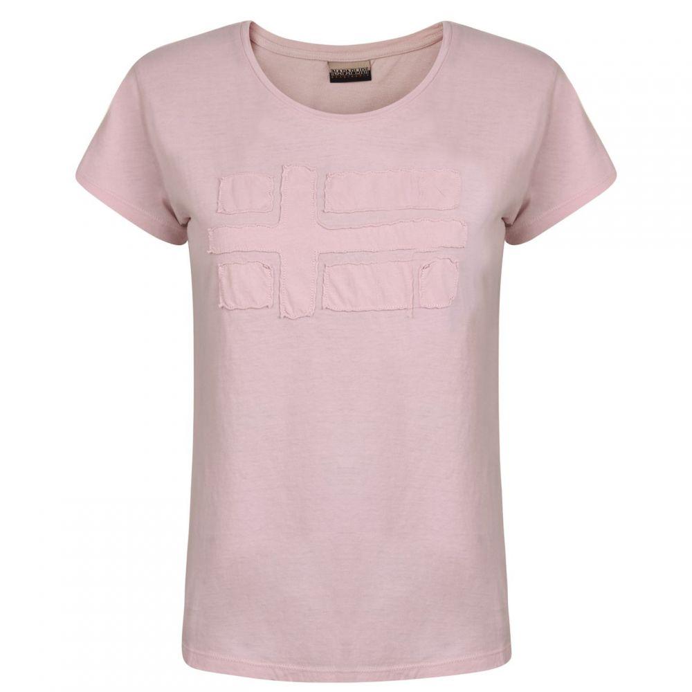 ナパピリ Napapijri レディース Tシャツ トップス【t shirt】Pale Pink