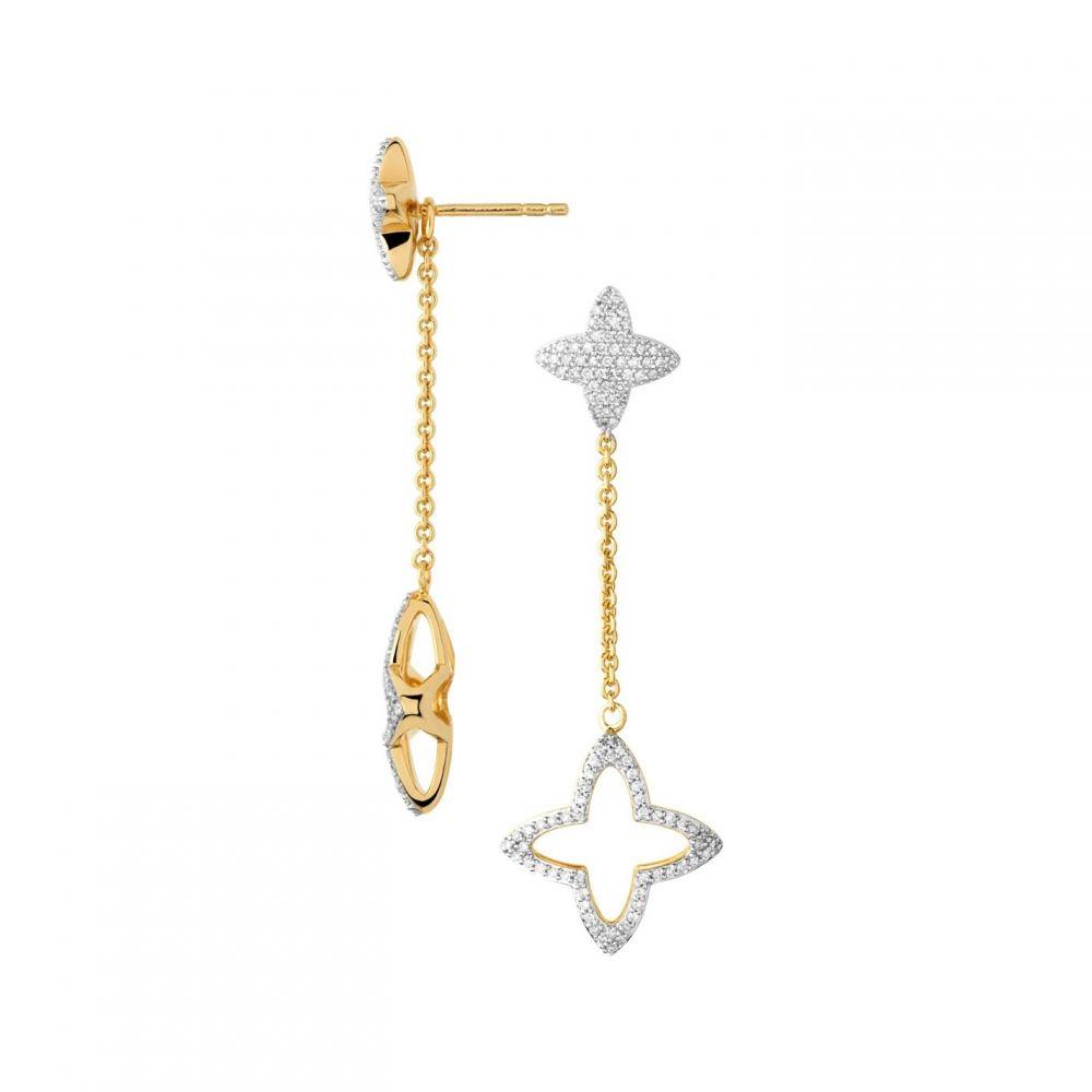 【お気にいる】 リンクス オブ ロンドン Links of オブ London レディース ジュエリー・アクセサリー Star リンクス イヤリング・ピアス【Splendour 18Kt Gold Vermeil And Diamond Star Long D】Gold, ナカカンバラグン:cf0faca7 --- mediakaand.com
