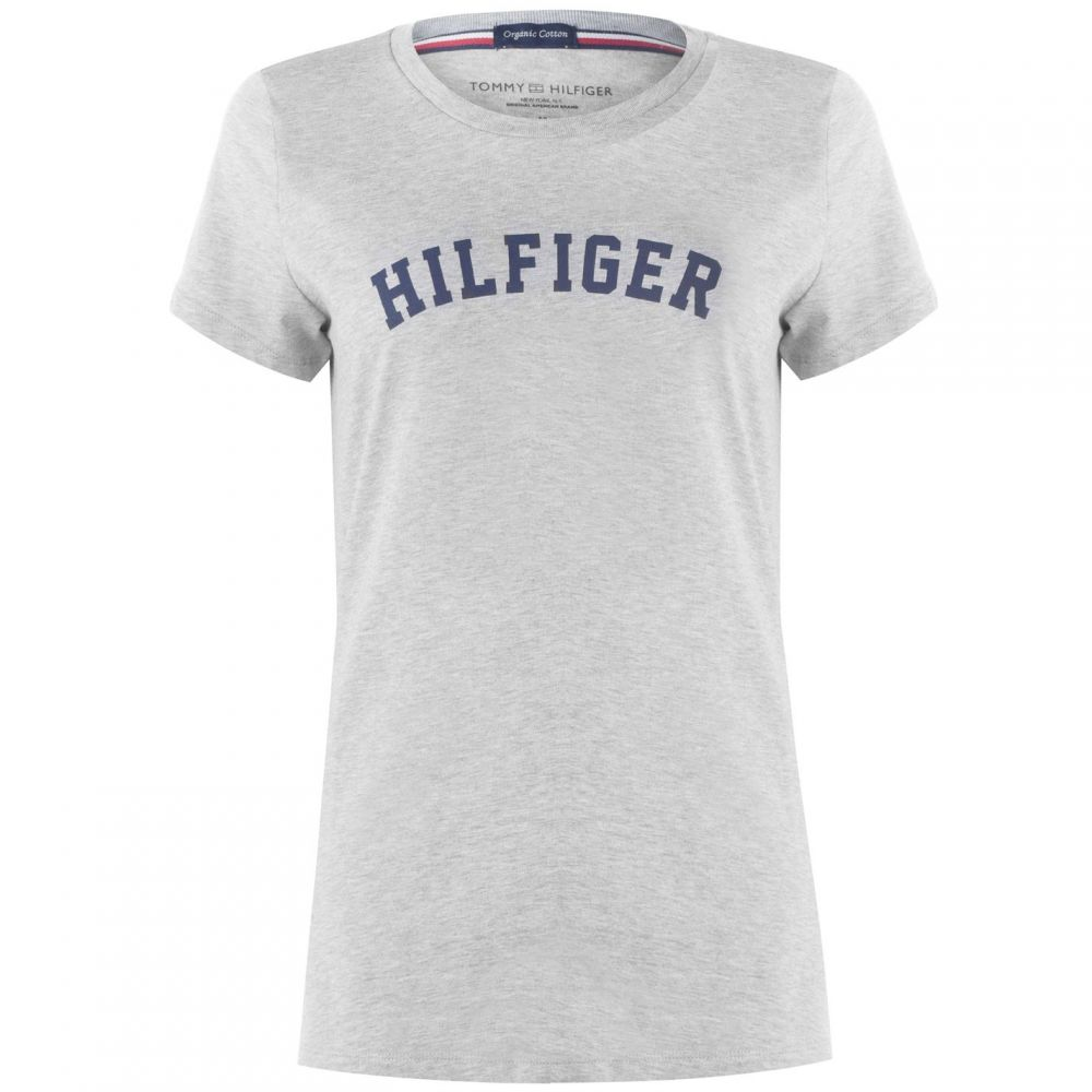 トミー ヒルフィガー Tommy Bodywear レディース Tシャツ トップス【print t shirt】Grey Heather