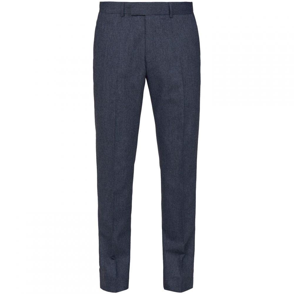 ギブソン Gibson メンズ ボトムス・パンツ スラックス【The Bayswater Navy Tweed Slim Fit Trousers】Navy