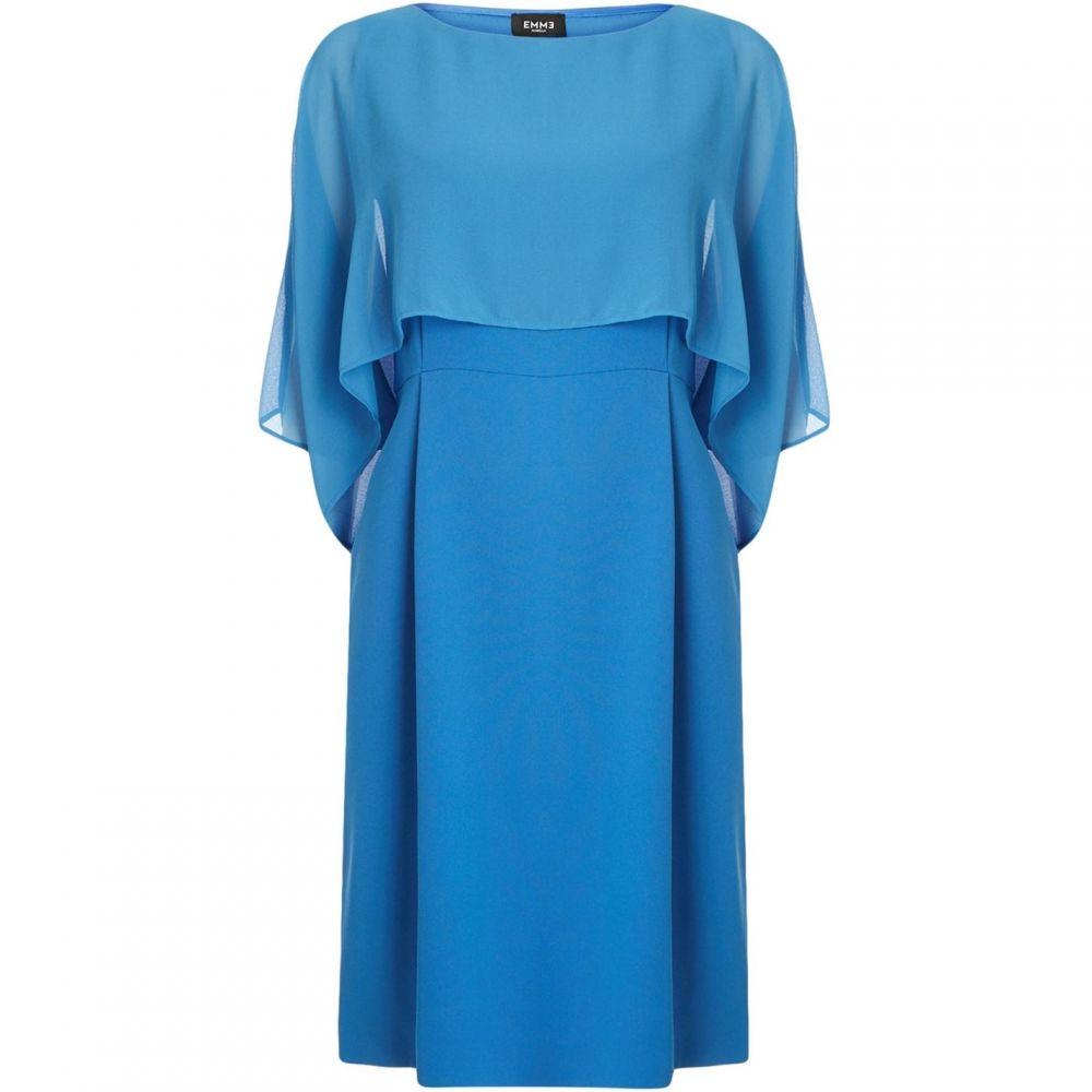 エメ Emme レディース ワンピース・ドレス【Potenza ruffle top with fitted skirt】Blue