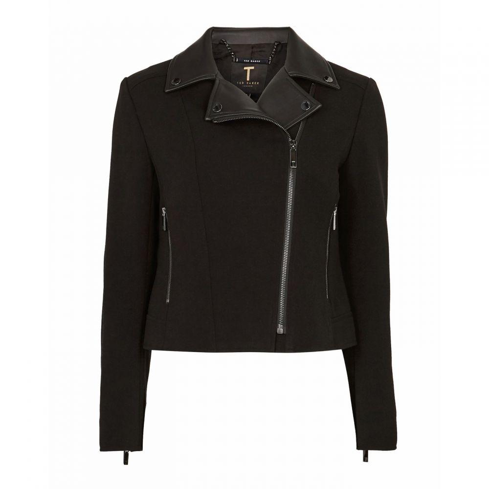 テッドベーカー Ted Baker レディース アウター レザージャケット【Topas Faux Leather Collar Biker Jacket】Black