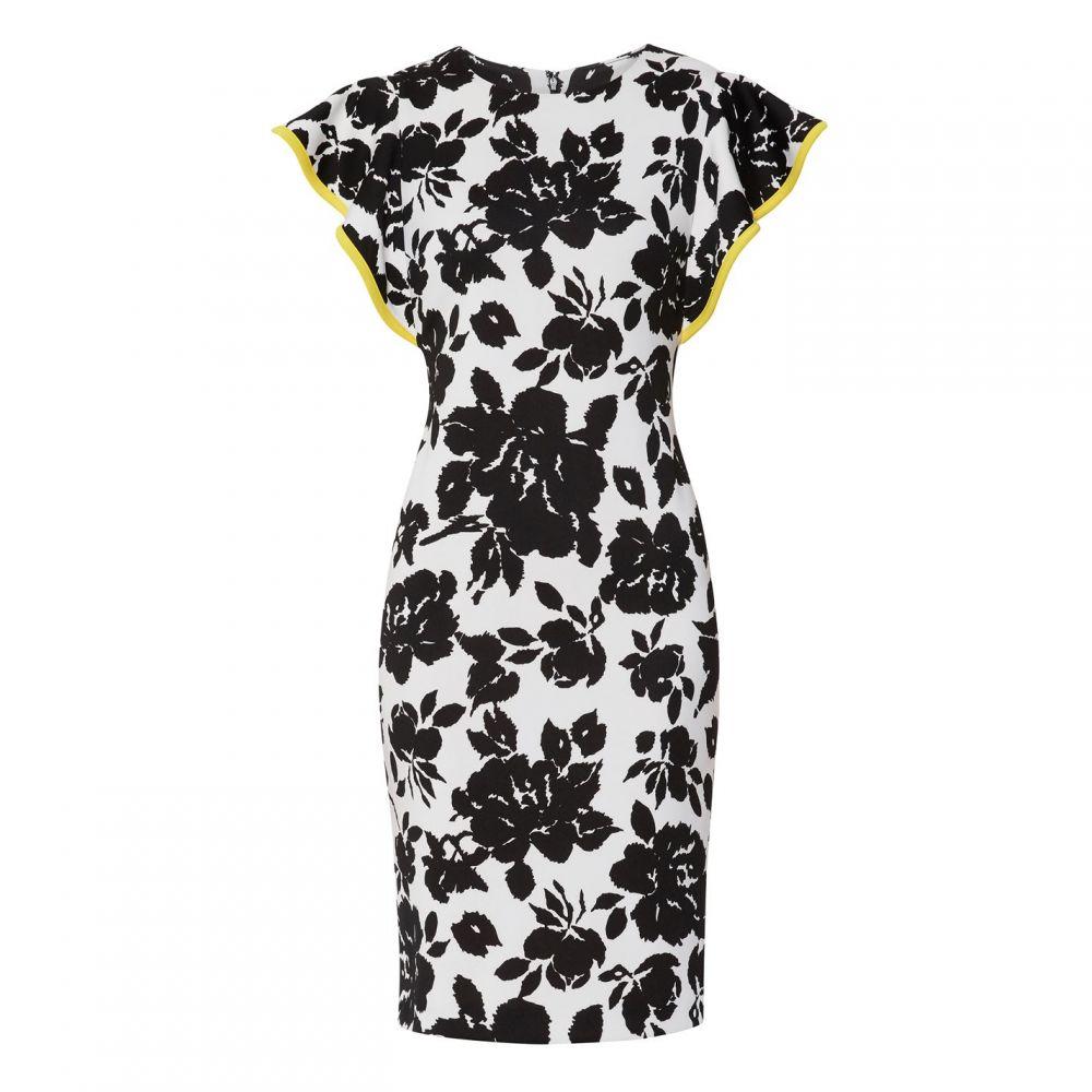 ジーナ バッコーニ Gina Bacconi レディース ワンピース・ドレス ワンピース【Citana Floral Scuba Dress】Black/White