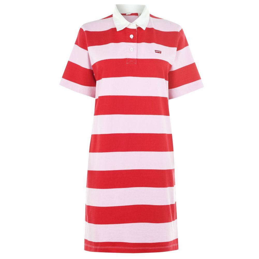 リーバイス Levis レディース ワンピース・ドレス ワンピース【StripeRugbyDrs】Lady Pink/B Red