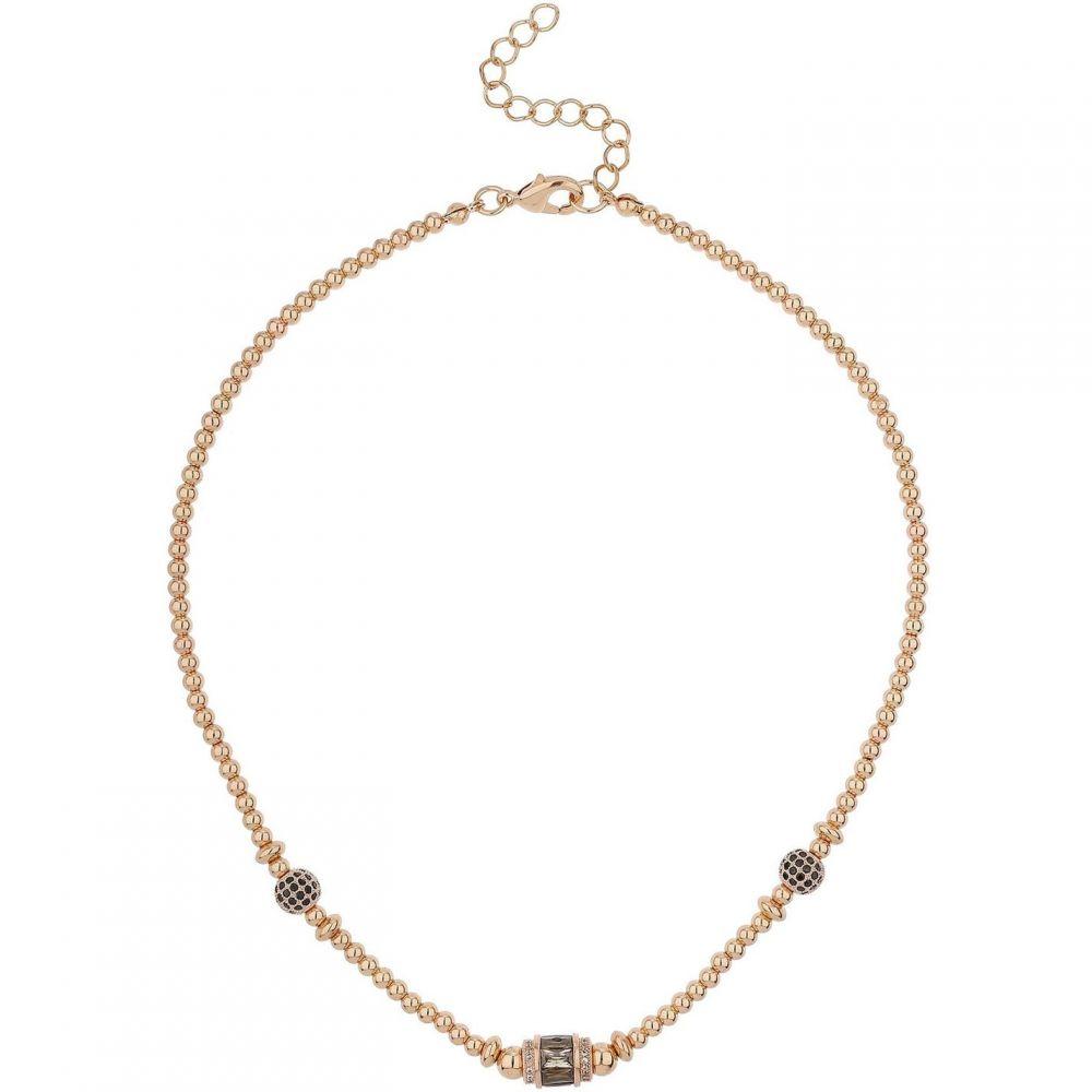 マイキー Mikey レディース ジュエリー・アクセサリー ネックレス【Bagette Bead & Cubic Bead Necklace】Black