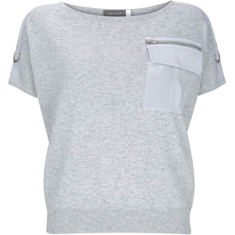 ミルトン ベルベット Mint Velvet レディース トップス ニット・セーター【Grey Military Pocket Knit】Light Grey