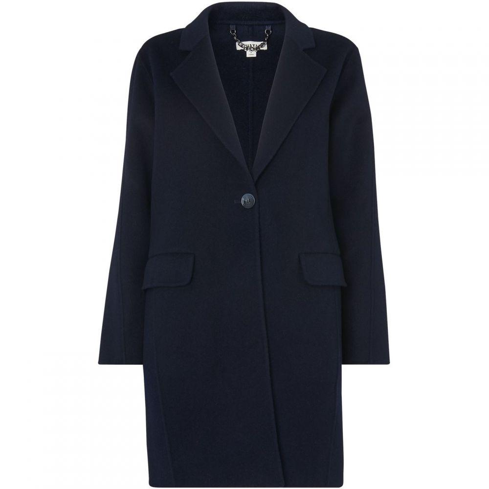 ホイッスルズ Whistles レディース アウター コート【Nell Double Faced Wool Coat】Navy