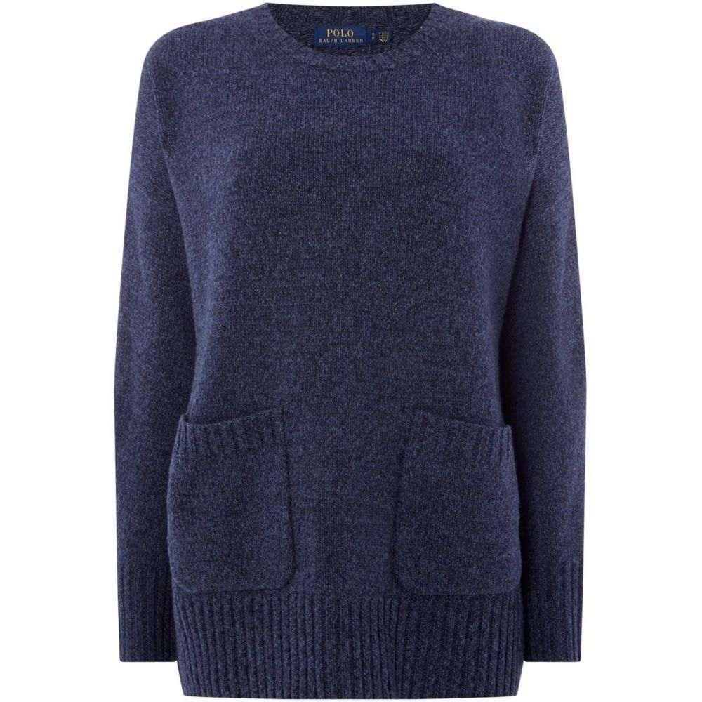 ラルフ ローレン Polo Ralph Lauren レディース トップス ニット・セーター【Long Sleeve Pocket Jumper】Blue