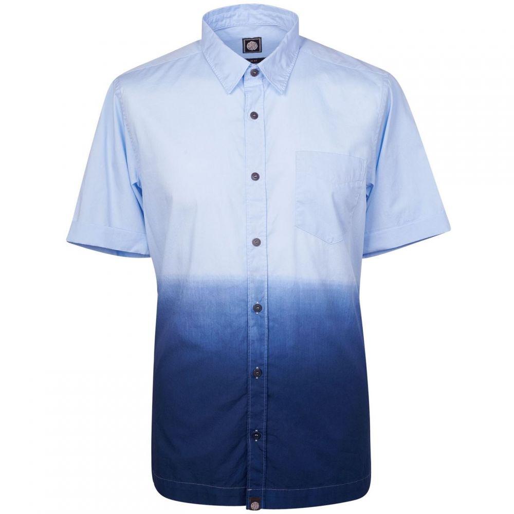 プリティー グリーン Pretty Green メンズ トップス 半袖シャツ【Short Sleeve Camrose Shirt】Navy
