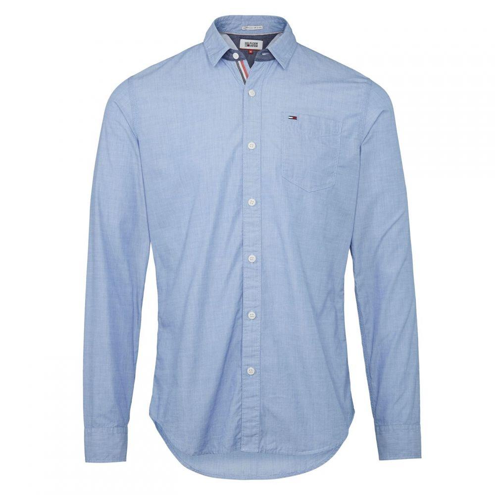 トミー ジーンズ Tommy Jeans メンズ トップス シャツ【Original End On End Shirt】Blue