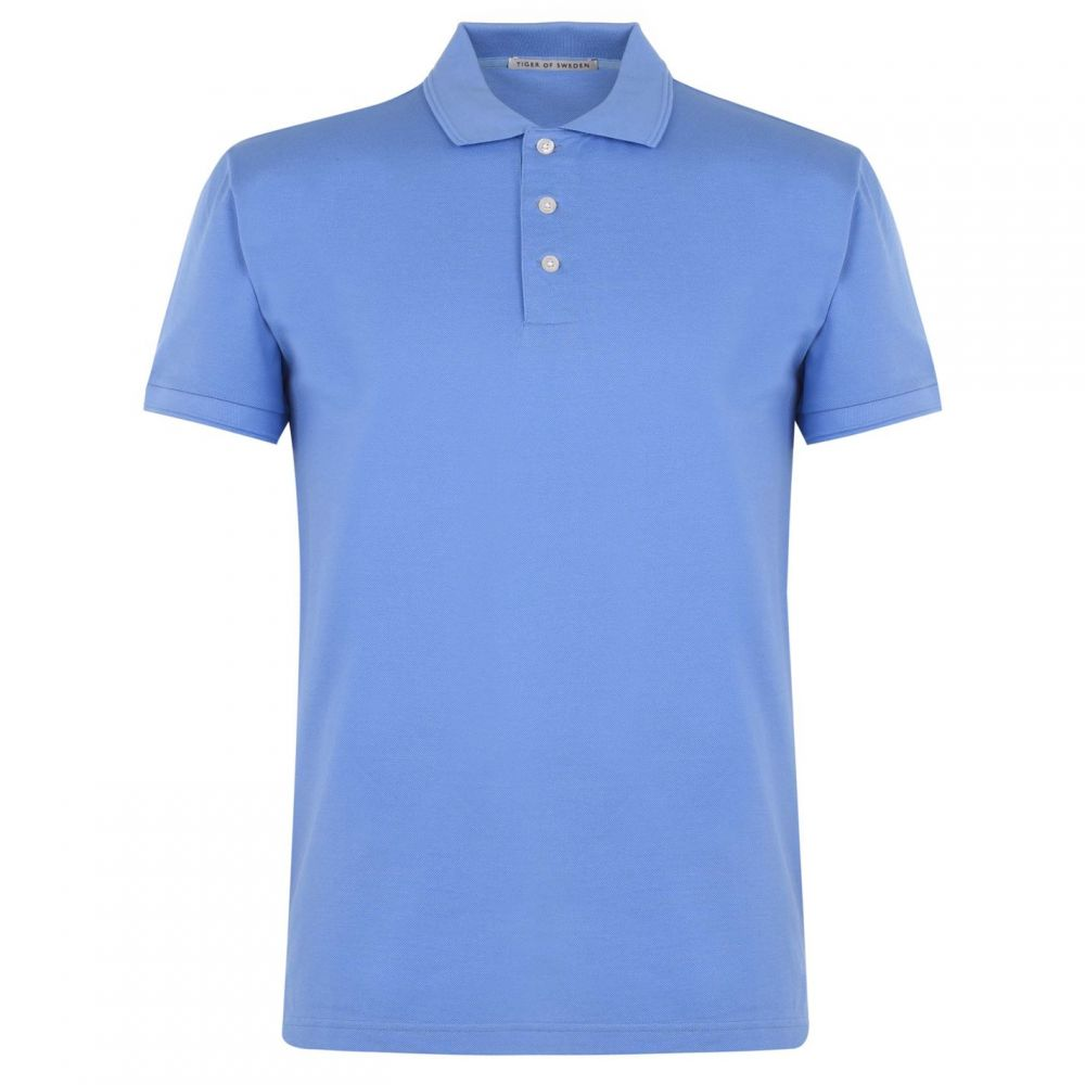 タイガー オブ スウェーデン Tiger of Sweden メンズ トップス ポロシャツ【Short Sleeve Polo Shirt】Blue U