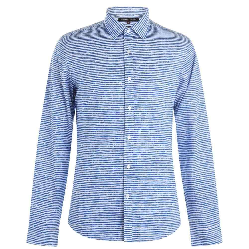 マイケル コース MICHAEL Michael Kors メンズ トップス シャツ【Stripe Long Sleeve Shirt】Grecian