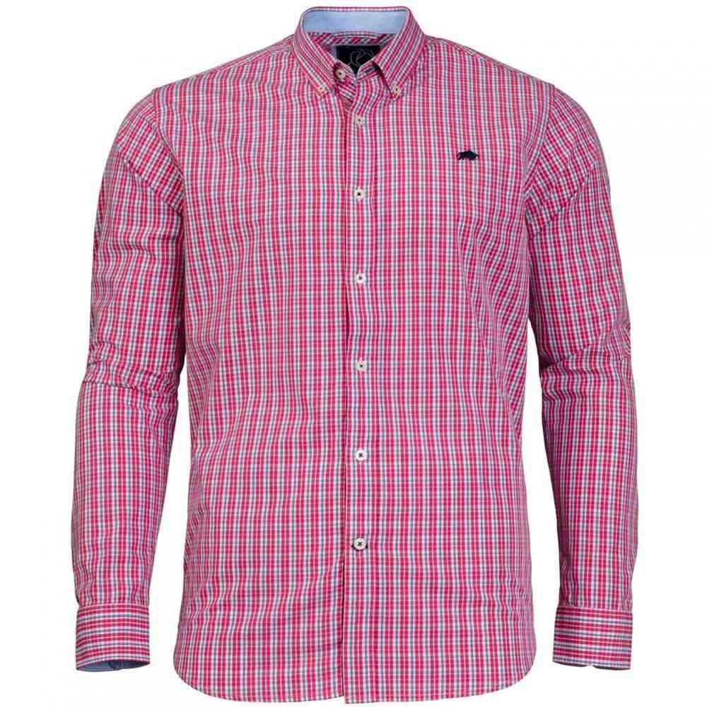 ライジング ブル Raging Bull メンズ トップス シャツ【Big And Tall Micro Check Shirt】Pink