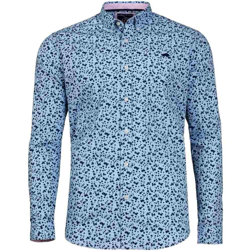 ライジング ブル Raging Bull メンズ トップス シャツ【Big And Tall Micro Floral Print Shirt】Sky Blue